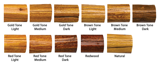 Transformation Log & Timber Color Chart